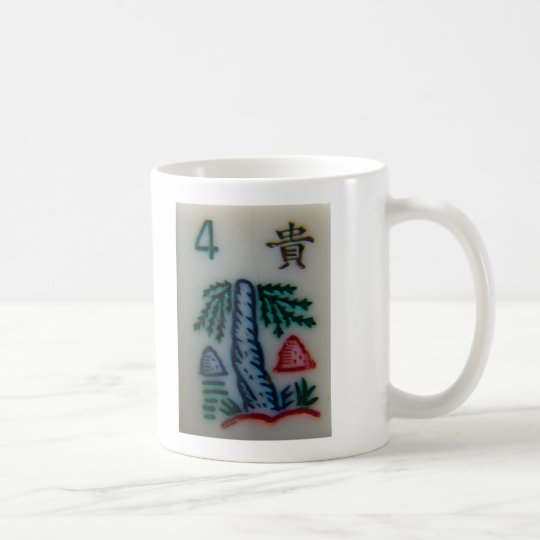Flower tile coffee mug