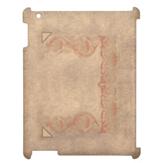 Flower tone on tone case for the iPad