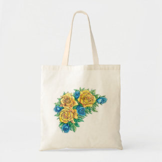 Flower tote canvas bag