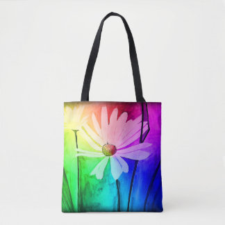 Flower Tote (Change color in Customize!)