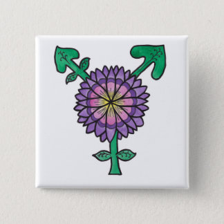 Flower Transgender Symbol Button
