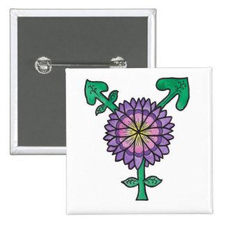 Flower Transgender Symbol Pinback Button