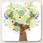 Flower Tree Beverage Coasters