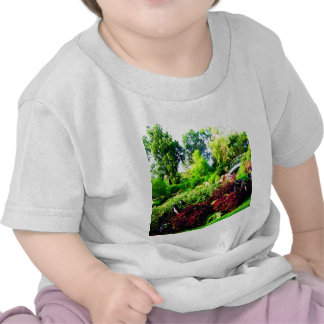 flower tree green and peace tshirt