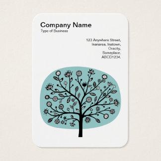 Flower Tree II - Light Blue Green Business Card