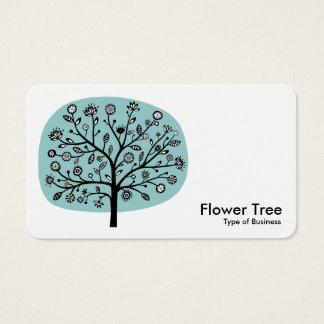 Flower Tree - Light Blue Green Business Card