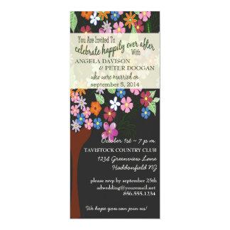 Flower Tree Post Wedding Party Invitation