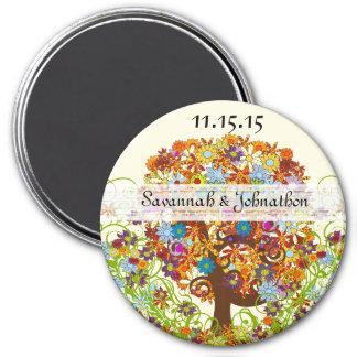 Flower Tree Wedding Magnet
