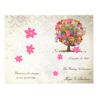 Flower Tree Wedding Program