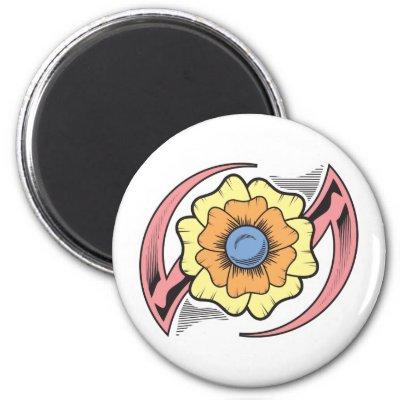 Flower Tribal Tattoo Design Refrigerator Magnets by doonidesigns