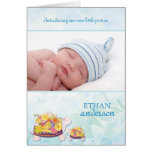 Flower Turtles Baby Boy Photo Birth Announcements Greeting Cards