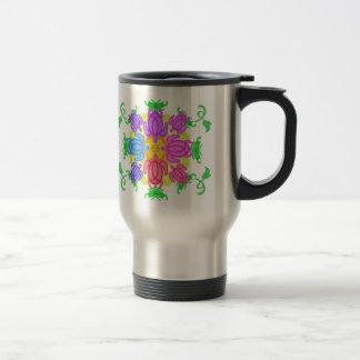 Flower Turtles Travel Mug