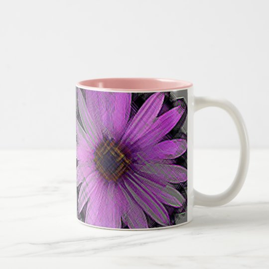 FLOWER Two-Tone COFFEE MUG