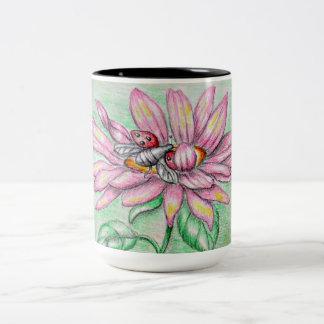 flower Two-Tone coffee mug