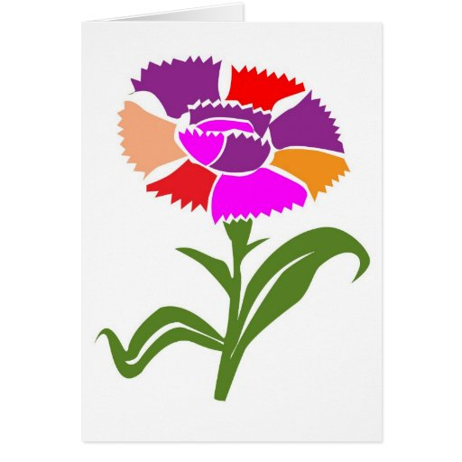 FLOWER : Unusual  Color Scheme Greeting Card