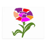 FLOWER : Unusual  Color Scheme Postcard