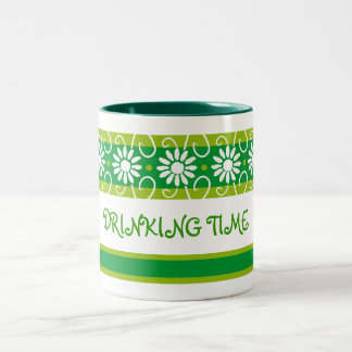 Flower up, DRINKING TIME Two-Tone Coffee Mug