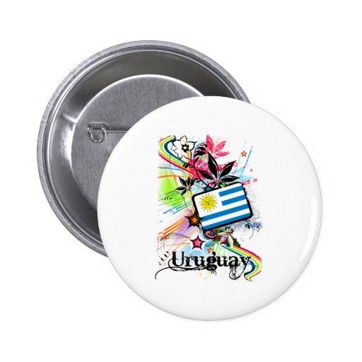 Flower Uruguay Button