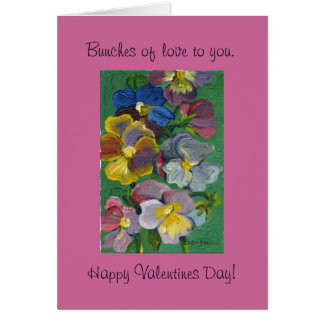 Flower Valentine Card