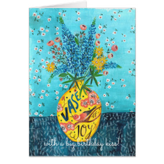Flower Vase Birthday | Greeting Card