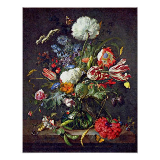 flower vase by Jan Davidsz de Heem Posters