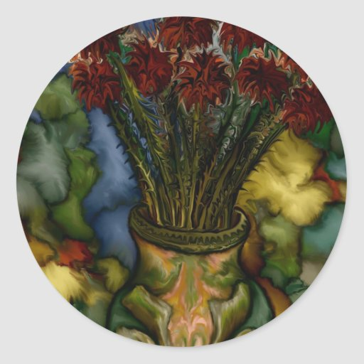Flower Vase by rafi talby Classic Round Sticker