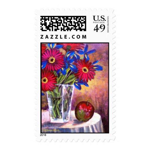 Flower Vase Daisy Gerber Florars  Painting - Multi Postage