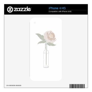 Flower Vase Decals For iPhone 4