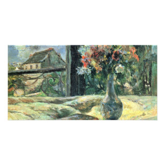 Flower Vase On The Window By Gauguin Paul Personalized Photo Card