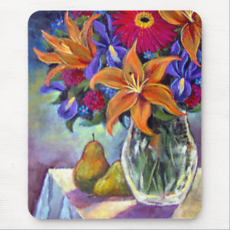 Flower Vase Pears Painting Art - Multi Mouse Pads