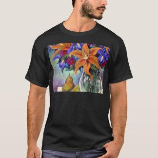 Flower Vase Pears Painting Art - Multi T-Shirt