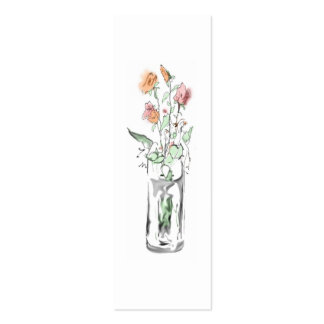 Flower Vase Profile Card Business Card