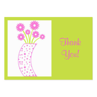 Flower vase Thank You - Card Business Card