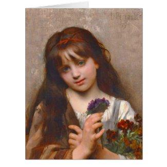 Flower Vendor 1874 Card