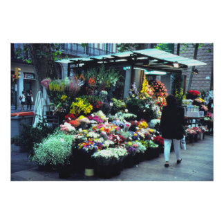 Flower vendor, Cannes, France Poster