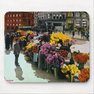 Flower Vendors Mouse Pad