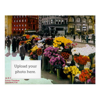 Flower Vendors Postcard