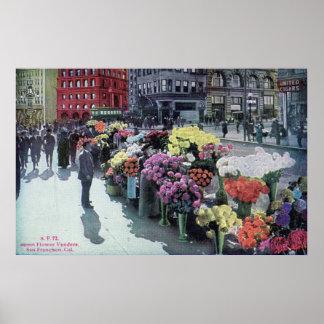 Flower Vendors, San Francisco 1926 Vintage Poster