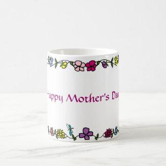Flower vine frame Happy Mother's Day mug