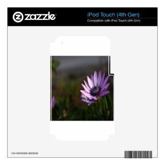 Flower violet nature design iPod touch 4G skins