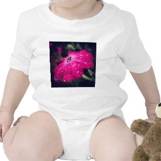 Flower w/ raindrops t-shirts