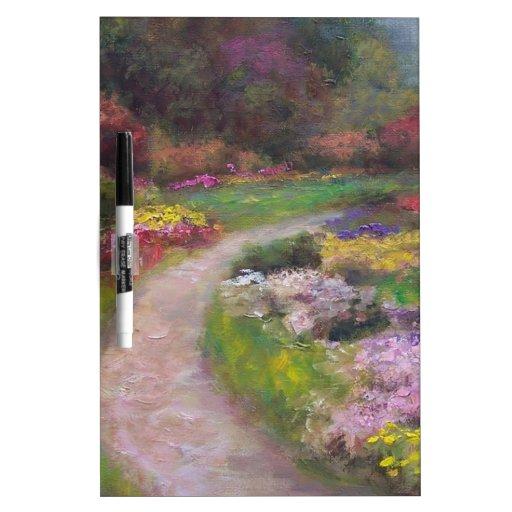 Flower Walk Dry Erase Whiteboard