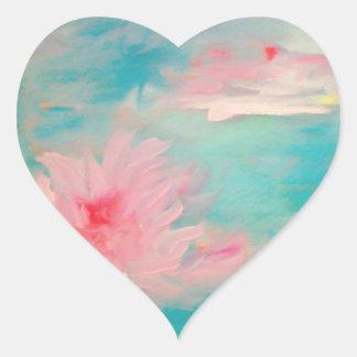 Flower Water Heart Sticker