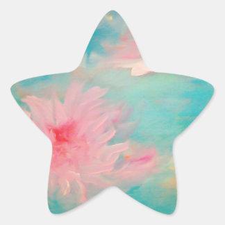 Flower Water Star Sticker