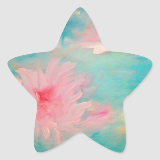 Flower Water Star Sticker