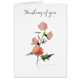 Flower watercolor painting all occasions card