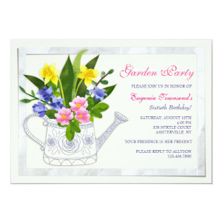Flower Watering Can Invitation