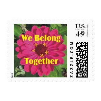 Flower We Belong Together Postage Stamp