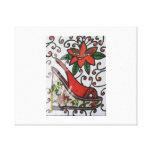 flower wedge heel canvas prints