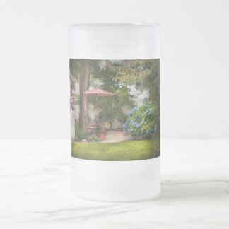 Flower - Westfield, NJ - Private paradise Frosted Glass Beer Mug